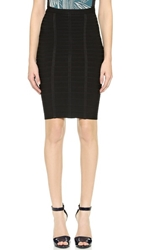 Herve Leger Sia Short Pencil Skirt Black