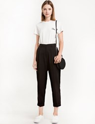 Pixie Market Black High Waist Peg Trousers