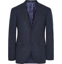Polo Ralph Lauren Blue Slim Fit Micro Checked Virgin Wool Blazer Storm Blue