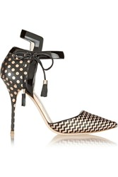 J.Crew Sophia Webster Pippa Leather And Jacquard Pumps Black