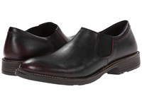 Naot Footwear Director Volcanic Red Leather Men's Slip On Shoes Black