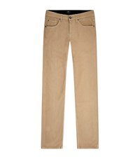 7 For All Mankind Cashmere Blend Straight Jeans Male Beige