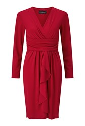 James Lakeland Dress With Ruffle Red