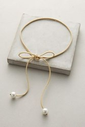 Anthropologie With A Bow Choker Taupe