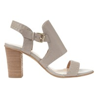 Mint Velvet Mandy Block Heeled Sandals Grey