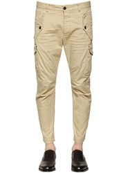 Dsquared Stretch Cotton Twill Cargo Pants