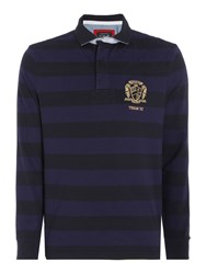 Howick Men's Colenorton Stripe Long Sleeve Rugby Shirt Navy