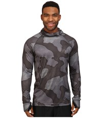 Burton Ak Power Grid Hoodie True Black Hombre Camo Men's Sweatshirt Gray