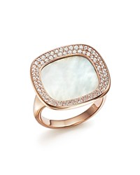 Roberto Coin 18K Rose Gold Carnaby Street Diamond And Mother Of Pearl Ring