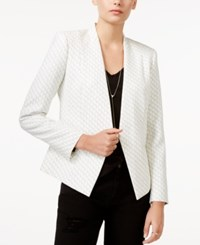 Armani Exchange Printed Open Front Blazer White