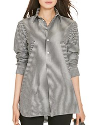Polo Ralph Lauren Striped Cotton Tunic Black White