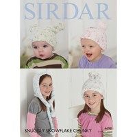 Sirdar Snuggly Snowflake Chunky Children's Hat Knitting Paper Pattern 4698