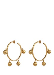 Ela Stone 'Gilda' Sphere Charm Hoop Earrings Metallic