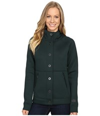 The North Face Neo Thermal Snap Hoodie Scarab Green Women's Sweatshirt