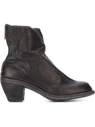 Guidi Cuban Heel Ankle Boots Black