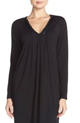 Midnight By Carole Hochman Women's Mightnight By Carole Hochman 'Tulum' Pintuck Nightgown Black