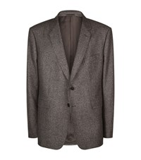 Gieves And Hawkes Wool Houndstooth Blazer Male Dark Brown
