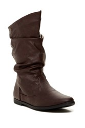Charles Albert Basey Slouchy Flat Boot Brown