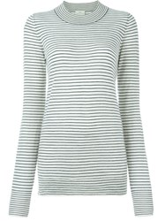 Forte Forte Striped Crew Neck Sweater Nude And Neutrals