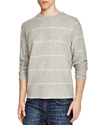 Billy Reid Aaron Striped Sweatshirt Grey White