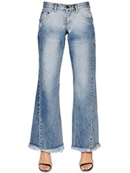 One Teaspoon Westenders Wide Leg Cotton Denim Jeans
