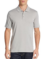 Saks Fifth Avenue Pima Cotton Polo Shirt Grey