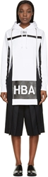 Hood By Air White Cut Out Horizon Stripe Hoodie