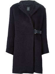 Eleventy Buckle Detail Coat Blue