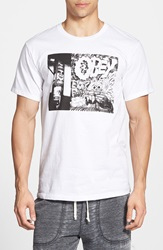 Obey 'Block Party' Graphic T Shirt White