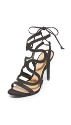 Schutz Lacie Ankle Strap Sandals Black