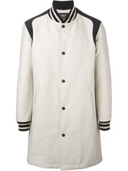 Ports 1961 Color Block Single Breasted Coat Nude And Neutrals