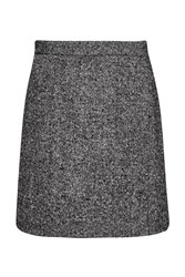 French Connection Rupert Tweed Mini Skirt Black