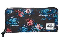 Herschel Avenue With Zipper Floral Blur Wallet Handbags Black