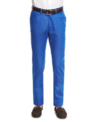 Brioni Five Pocket Cotton Blend Jeans Blue