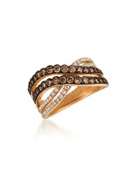 Levian 0.94Tcw Diamonds And 14K Rose Gold Chocolatier Ring