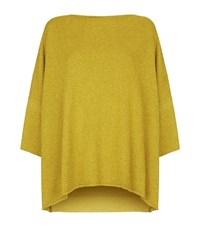 Eskandar Textured Boucle Boat Neck Top Female Green