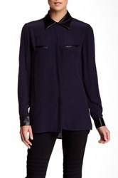 Insight Long Sleeve Solid Blouse