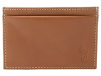 Polo Ralph Lauren Calf Leather Slim Card Case Brown Credit Card Wallet