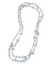 Carolee The Rockettes Beaded Necklace 60 Blue