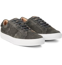 Greats The Royale Suede Sneakers Charcoal