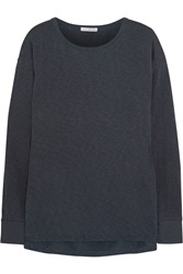 James Perse Cotton Terry Sweatshirt Blue