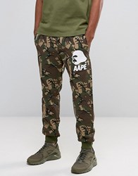 Aape By A Bathing Ape Joggers With All Over Camo Print Green
