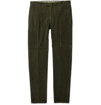 Boglioli Regular Fit Corduroy Trousers Green
