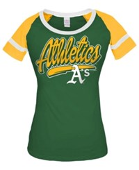 5Th And Ocean Women's Oakland Athletics Homerun T Shirt Green