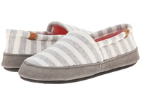 Acorn Moc Summerweight White Stripe Women's Slippers