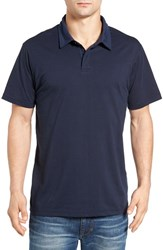 Rvca Men's 'Sure Thing' Stripe Jersey Polo Federal Blue