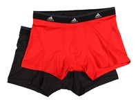 Adidas Sport Performance Climalite 2 Pack Trunk Real Red Black Men's Underwear