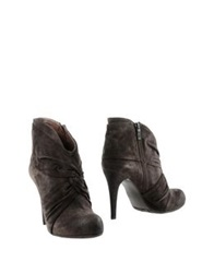 Janet And Janet Ankle Boots Dark Brown