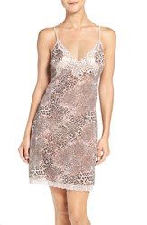 Natori Women's 'Feathers' Animal Print Chemise Natural
