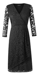 Grace Made In Britain Lace Dress Black